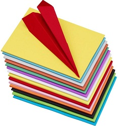 Pindia Premium Pack of 100 A4 Size Assorted Colour Sheets
