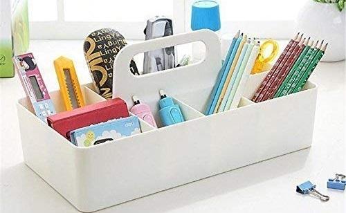 Srxes Desk Organizer Makeup Container Desk Storage Box