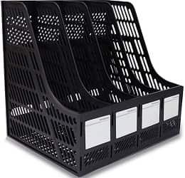 DaKos Multipurpose Plastic 4 Compartments File Rack