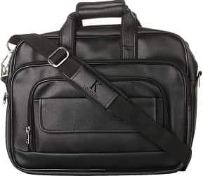 K London Black Artificial Leather Handmade Men Laptop Bag