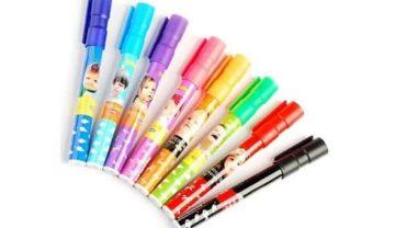 Kabeer Art Set Of 8 Assorted Colors Whiteboard Marker Pens