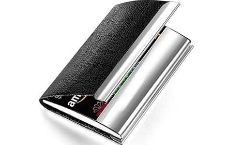 SNDIA PU Leather Pocket Size Business Credit Card Holder