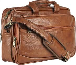 Thames by Lioncrown Faux Leather 14 inches Laptop Messenger Bag
