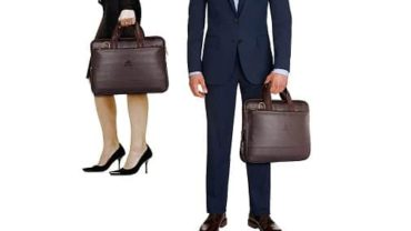 The Clownfish Vegan Leather 14 inch Briefcase